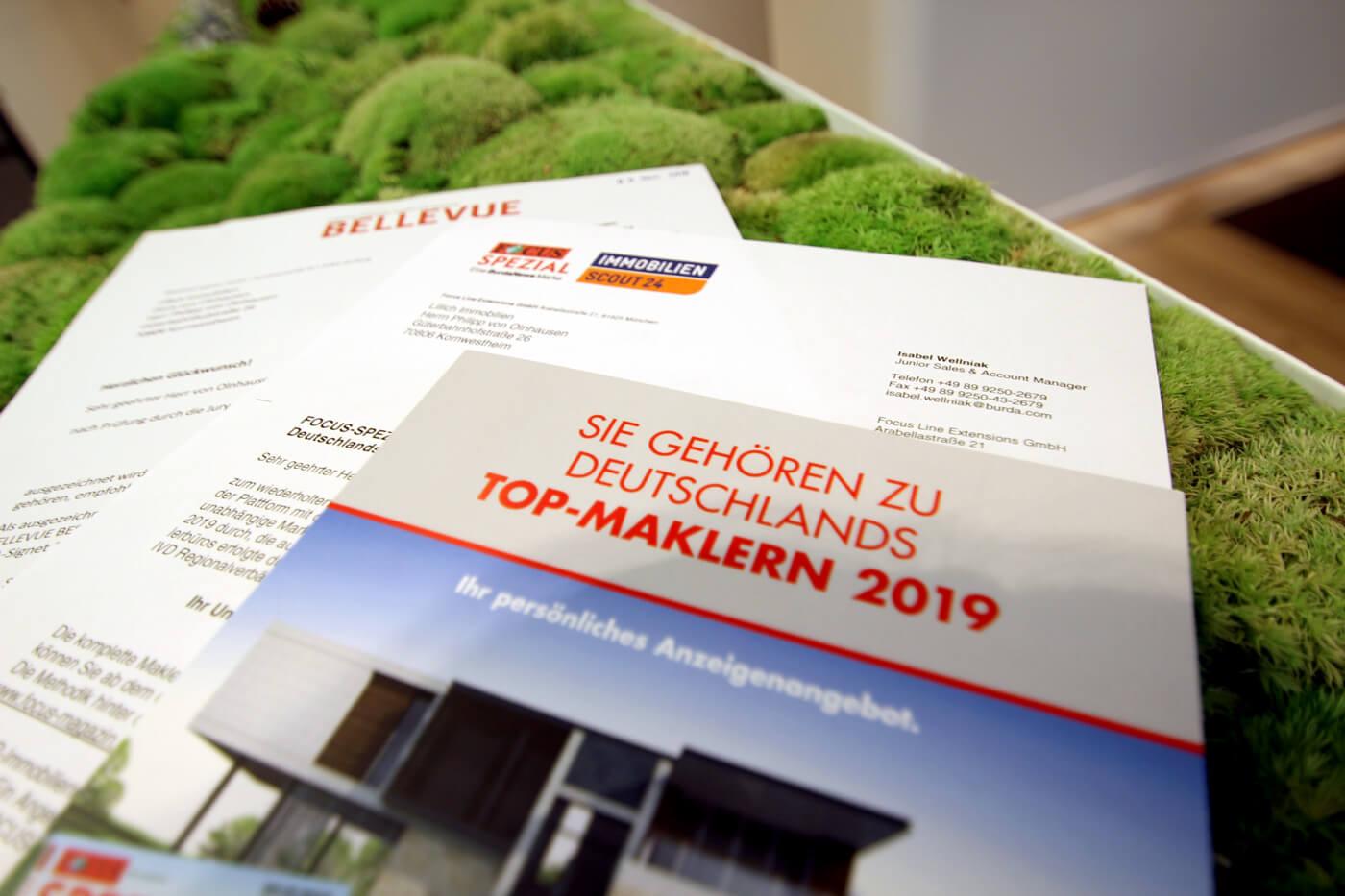 """Lillich Immobilien ausgezeichnet als """"Bellevue Best Property Agent 2019"""""""