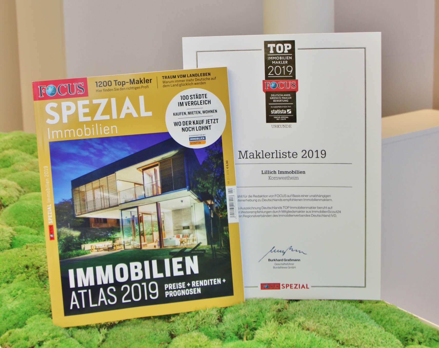 Focus-Spezial: Lillich Immobilien zählt zu Deutschlands Top-Immobilienmaklern 2019!
