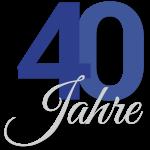40 Jahre Jubiläumslogo