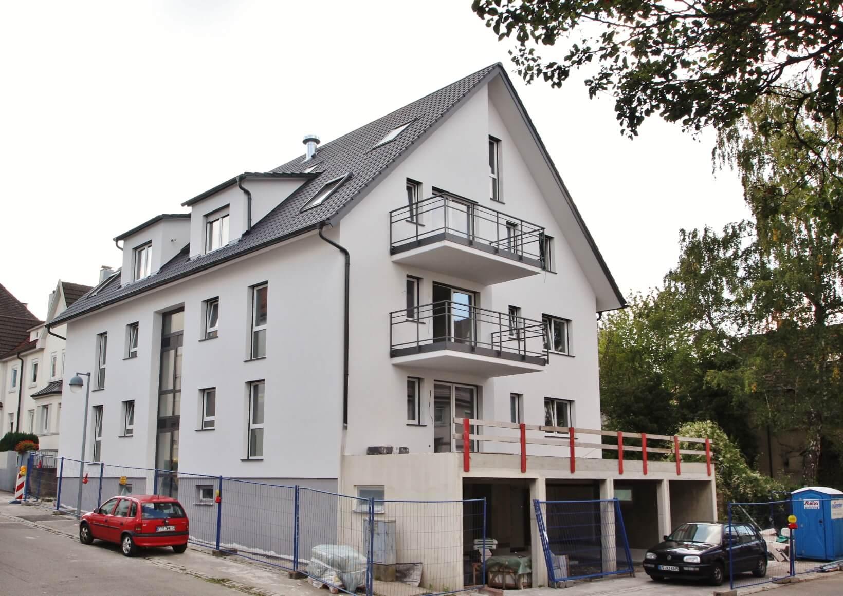 6 Neubauwohnungen in einem Mehrfamilienhaus in Kornwestheim