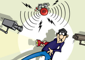 Einbruch, Überwachungskamera