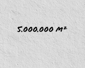 Text, 5 Millionen Quadratmeter