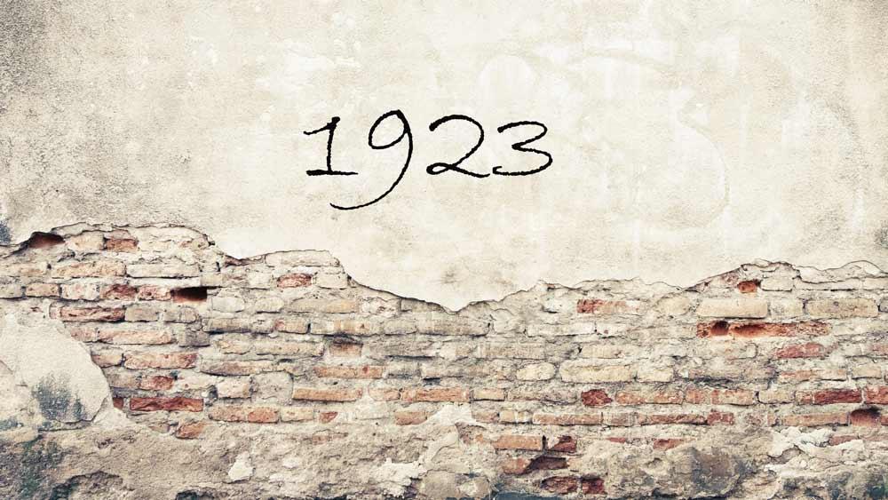 1923 Zahl auf Wand