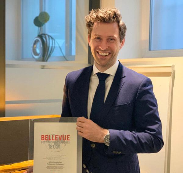 """Lillich Immobilien ausgezeichnet als """"Bellevue Best Property Agent 2021"""""""